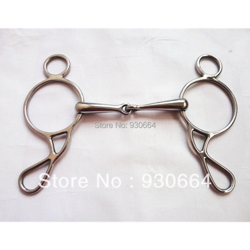 Equestrain Products  Stainless Steel Horse Bit 5 Inch Mouthpiece Gag Bit  ( H0912 )