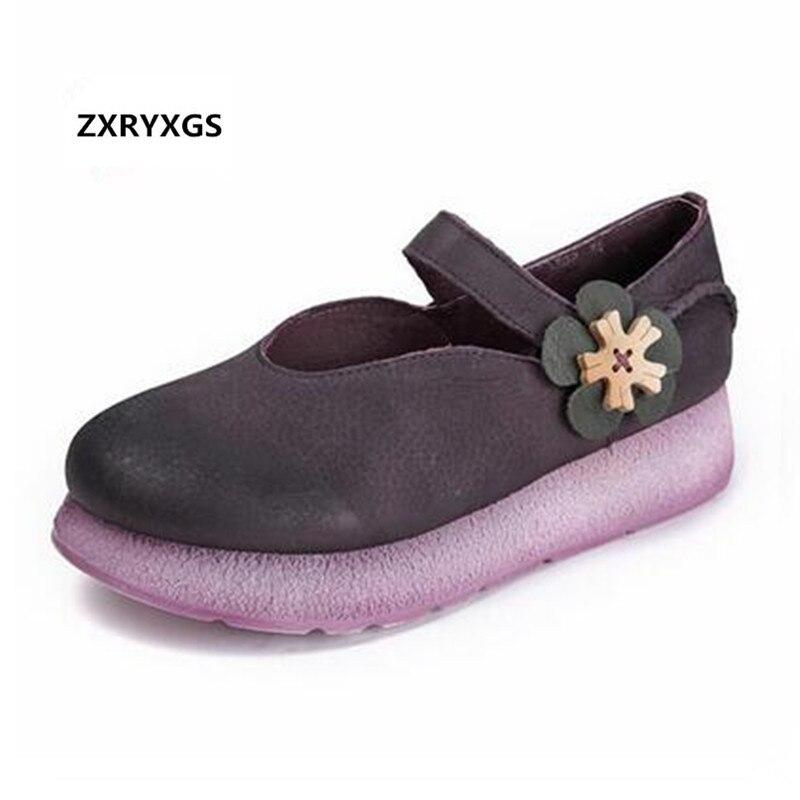 Самые популярные новые ретро цветок женская обувь 2018 Новый Демисезонный Туфли на платформе и танкетке удобные нескользящие Для женщин модн...