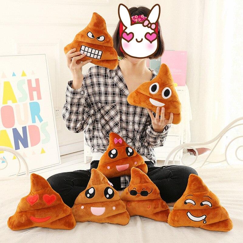 20 cm Nette Poo Form Emoji Kissen Kissen Smiley Kissen Schlafsofa Dekorative Kissen Almofada Spielzeug Puppe Weihnachtsgeschenke