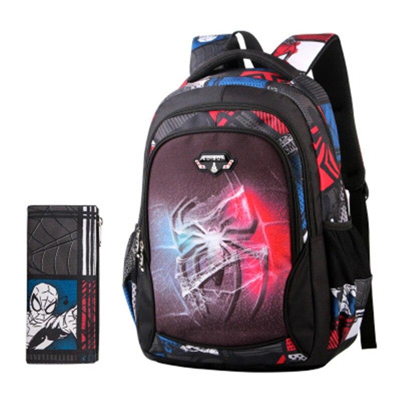 New oxford Spiderman School Bag Boys Backpack Kids Children Cartoon School Bags Backpacks Baby Child Infantil Escolar Mochilas new style school bags for boys