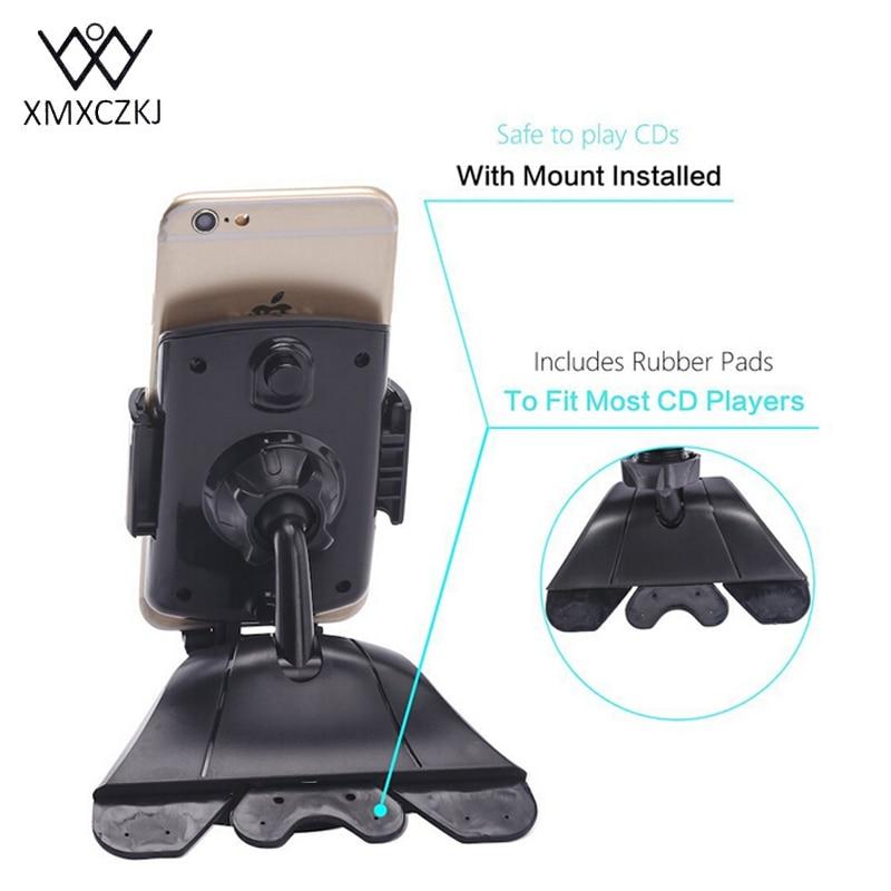XMXCZKJ Universal 360 Degrees Car Cd Slot Holder ABS Mount Phone - Բջջային հեռախոսի պարագաներ և պահեստամասեր - Լուսանկար 4