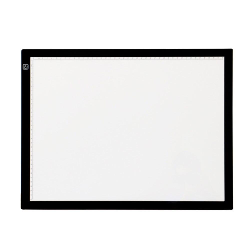 A3 réglable luminosité boîte à lumière copie Ultra mince planche à dessin Led traçage Pad croquis artistes tableau Art pochoir