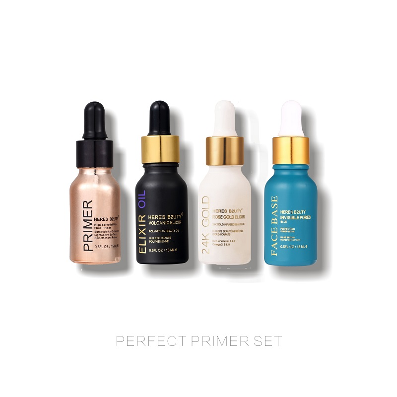 HERES B2UTY 24k Rose Gold/ Elixir Oil/ Oil Control/Invisible Pores Face Base/Primer/makeup Primer Base 5pcs