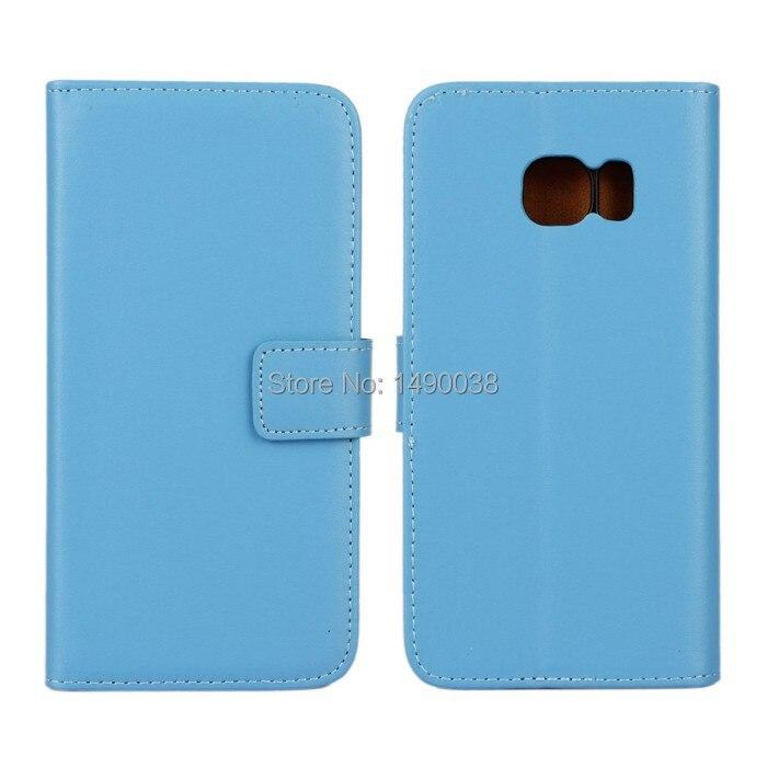Högkvalitativt äkta läder-flipfodral för Samsung Galaxy S6 Edge - Reservdelar och tillbehör för mobiltelefoner - Foto 2