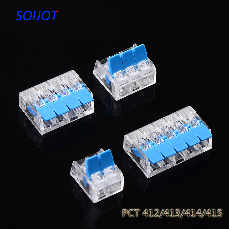 10PCS/lot Replace  221-412 413 415 Mini Fast Wire Connectors,Universal Compact Wiring Connector,push-in Conductor Terminal Block