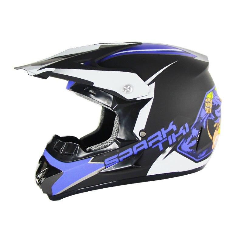 Helmet Motorcycle Road Racing Offroad Helmet Full Face Offroad Blue New Spooky Head