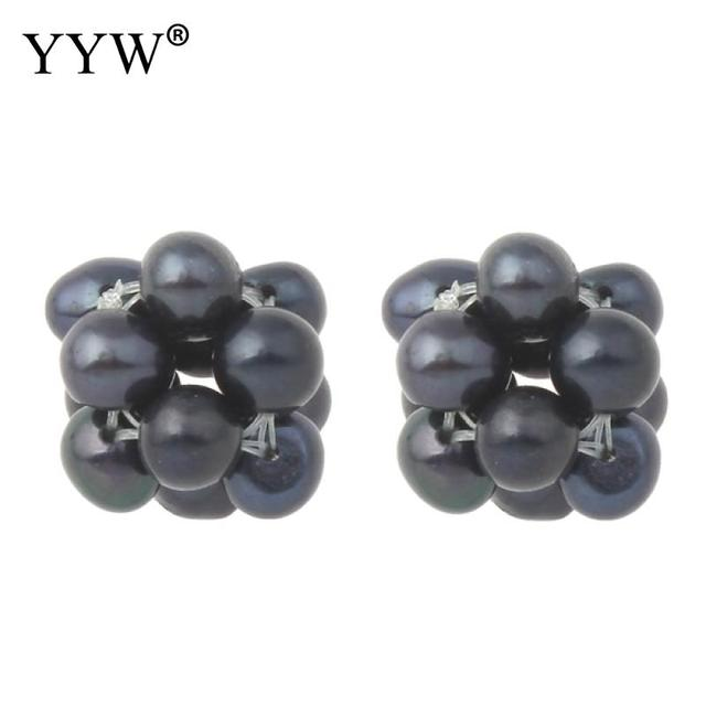 YYW Wedding Designer Jewelry Round Ball Cluster Cultured Pearl Beads
