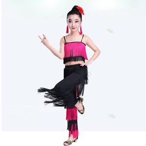 Image 3 - Songyuexia filles jupe de danse latine vêtements de performance vêtements dexamen de qualité Cha Liusu jupe de danse pour enfants