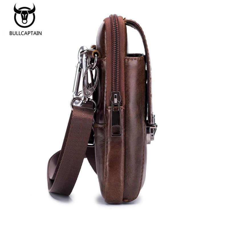Fanny Pack hommes marron en cuir véritable taille sacs pour hommes mode Cigarette coque de téléphone argent ceinture pour voyage sécurité portefeuille sac à main