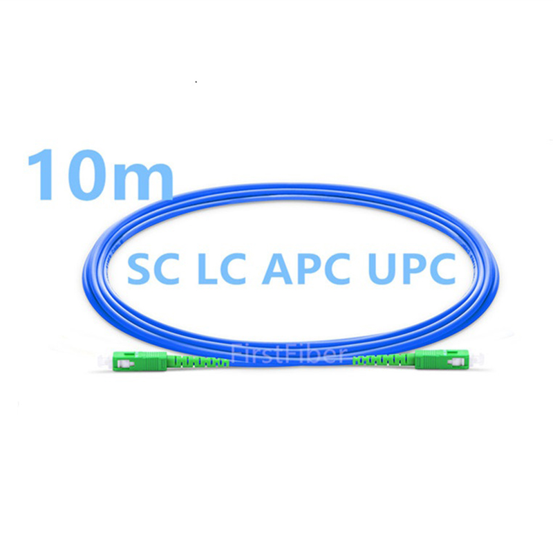 10m  SC LC APC UPC PC Armored  Patch Cable Patch cord , jumper Simplex Single Mode PVC-in Fiber Optic Equipments from Cellphones & Telecommunications