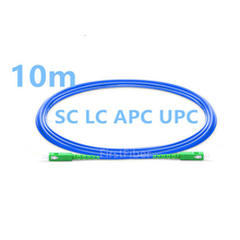Cordon de raccordement blindé de câble de correction de PC de 10 m SC LC APC UPC, PVC monomode recto de cavalier