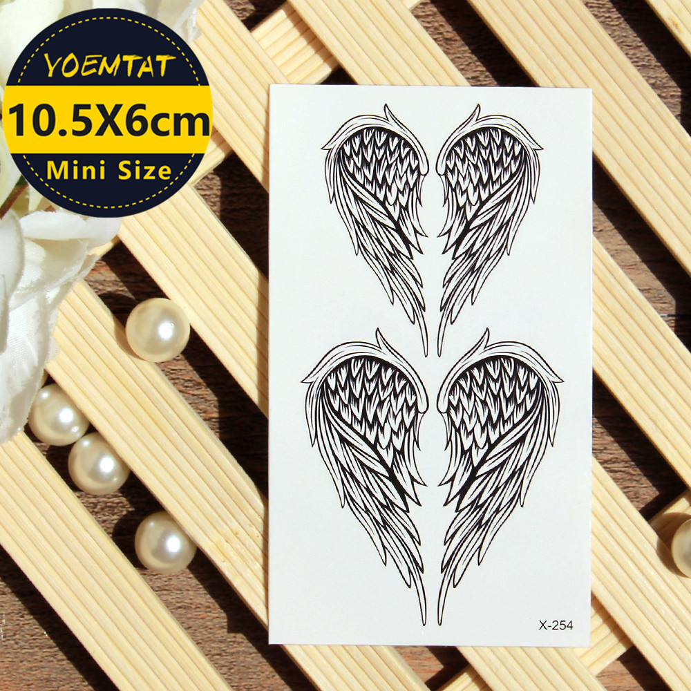 10.5*6cm Waterproof Temporary Tattoos Stickers Wing Tattoo
