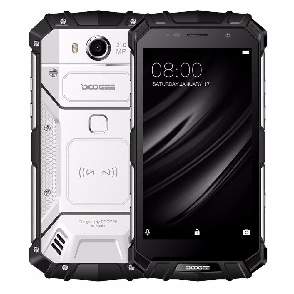 DOOGEE S60 IP68 Carga Sem Fio 5580 mAh 12 V/2A Carga Rápida 5.2 ''FHD Helio P25 Núcleo octa 6 GB 64 GB 21.0MP Câmera do Smartphone