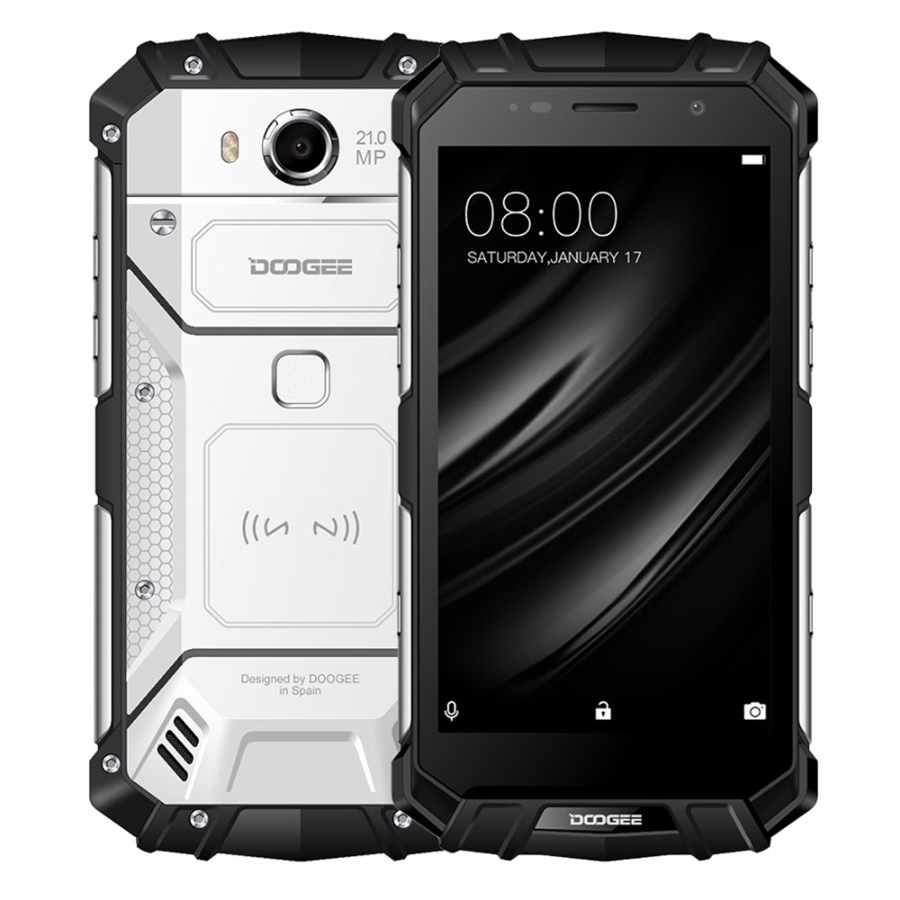 DOOGEE S60 IP68 Drahtlose Lade 5580 mAh 12 V/2A Schnellladung 5,2 ''FHD Helio P25 Octa-core 6 GB 64 GB 21.0MP Kamera Smartphone
