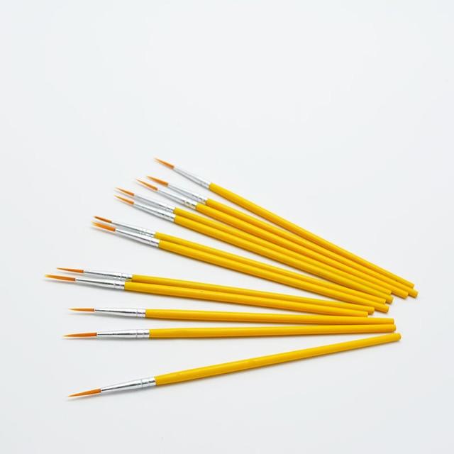 10pcs/set Long tail nylonhair hook line pen painting brush children DIY art supplies tool Art Stationery watercolor painting pen 3