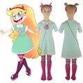 Niños Niñas Estrella contra las Fuerzas del Mal de La Princesa Estrella de La Mariposa Vestido de Bola Vestido de Fiesta de Halloween Cosplay