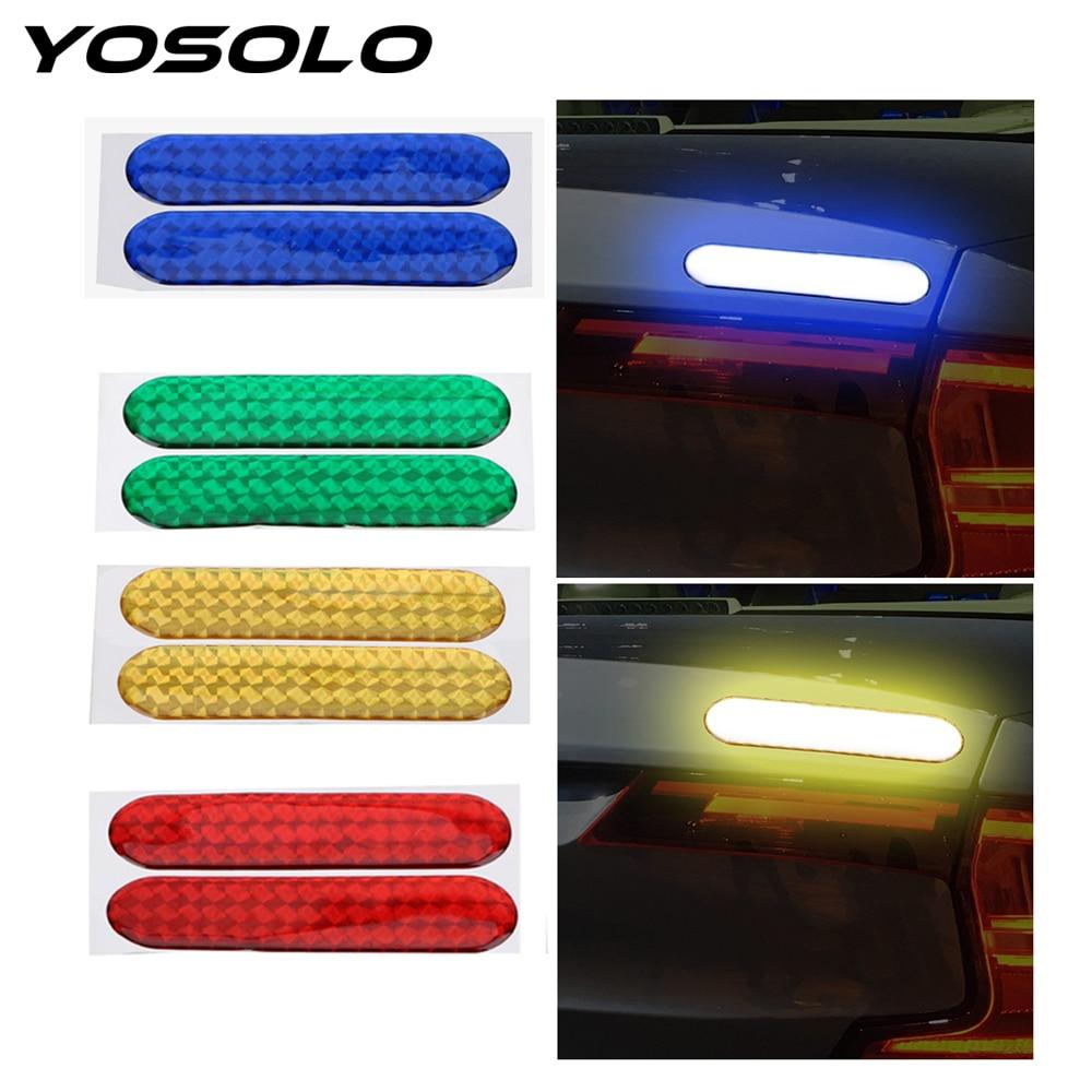 YOSOLO Decal Sticker Car-Door Safety 2piece/Set Reflective-Strip Mark Warning-Tape
