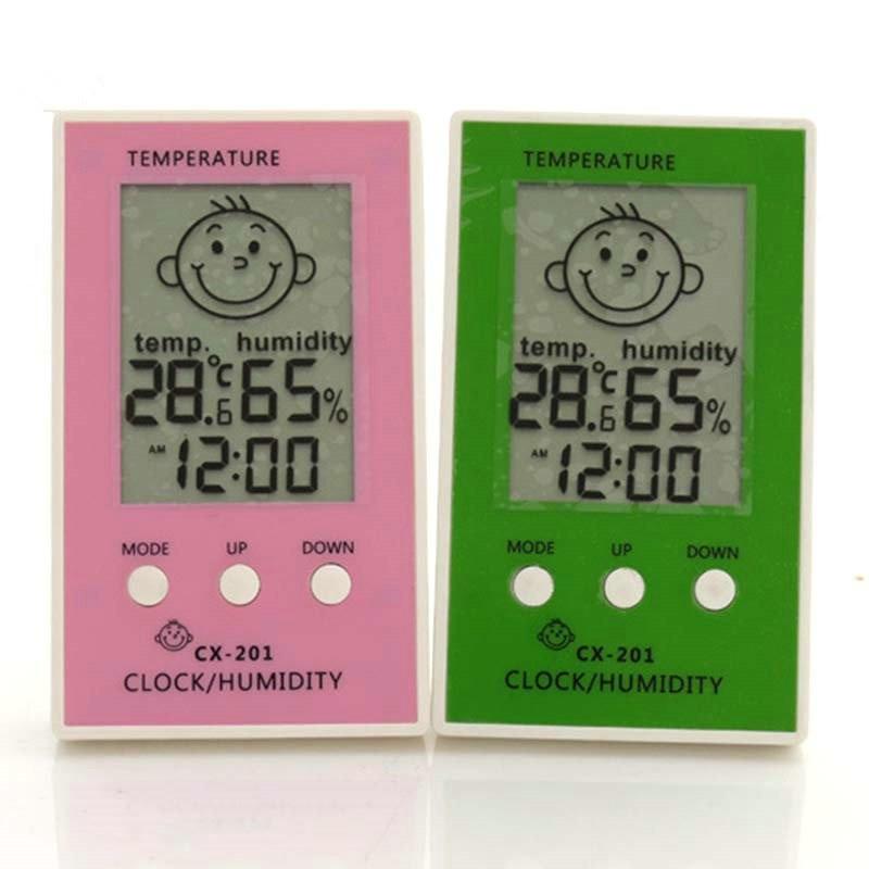 Thermometer hygrometer LCD Digital Clock Temperature logger humidity meter indoor outdoor