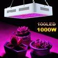 100 светодиодов растительная лампа для теплицы растущий свет двойной чип лампа для выращивания 1000 Вт полный спектр флуоресцентная лампа с ев...