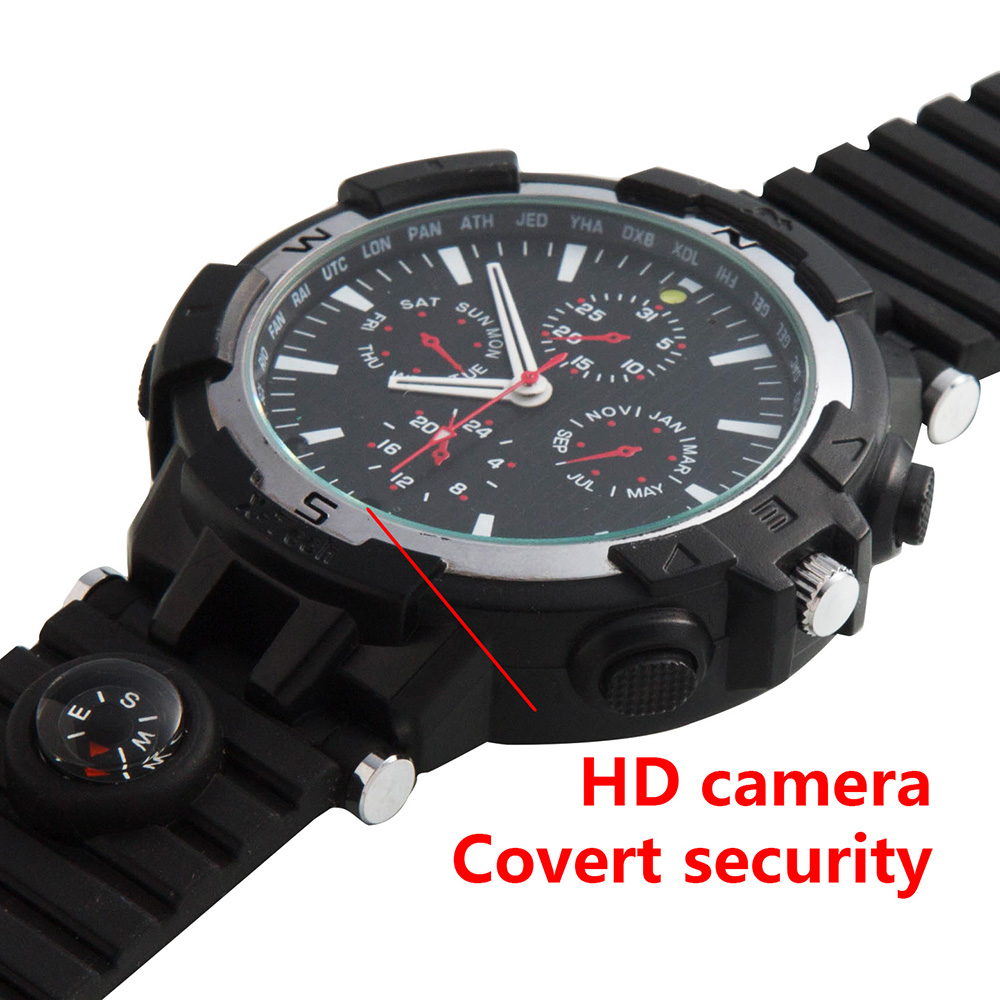 Foxwear Wireless Smart Wifi Camera Watch Remote Hd Video Monitor Jam Tangan 8gb Spy Cam Sport Best Gift With Recording Voice Function Fit For Business Man Use