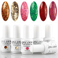 Gel Len 6pcs Glitter Nail Gel Polish Hot Sale LED Gel Varnish Long Lasting DIY UV Soak Off Gel Nail Art Salon