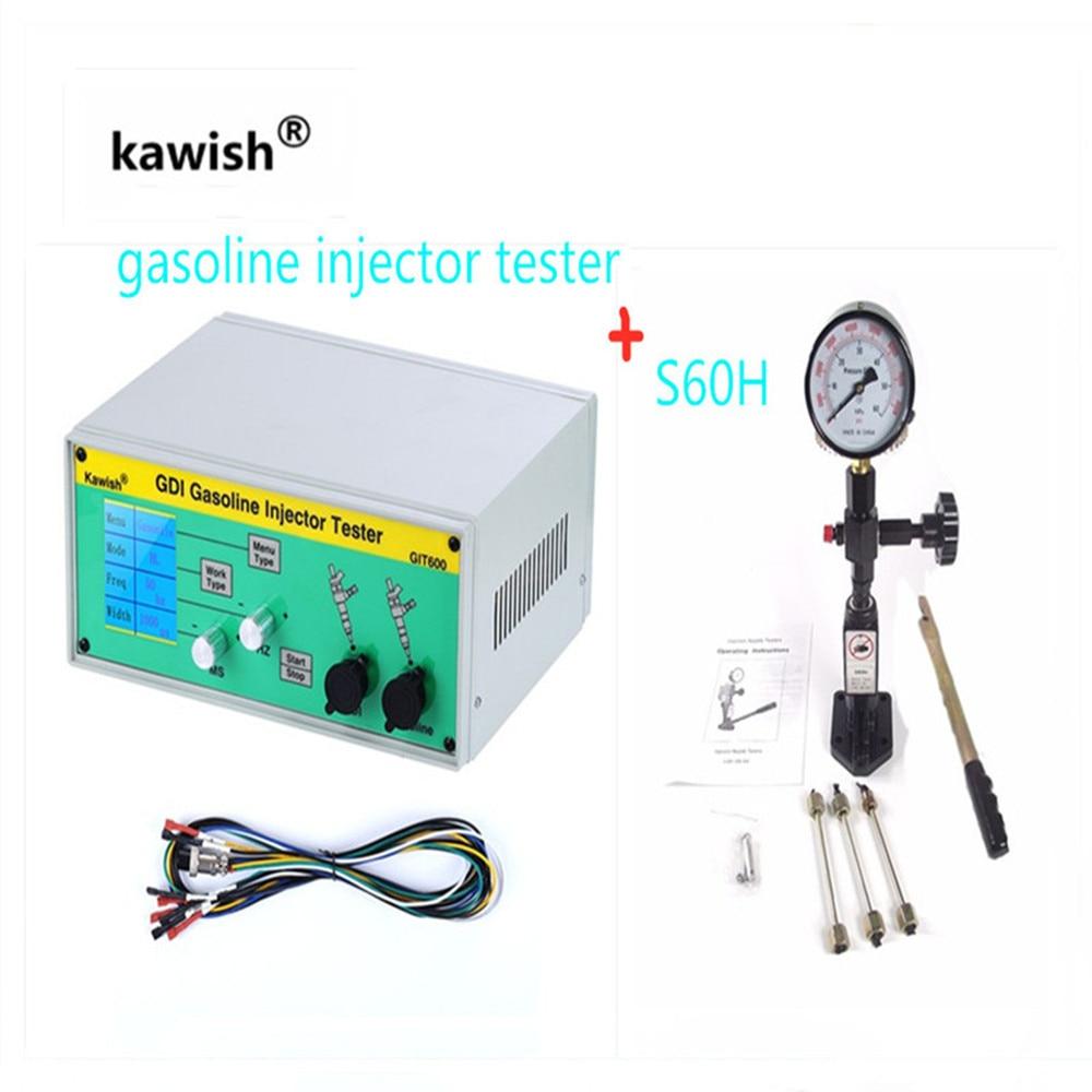 Latest GIT600+S60H GDI/FSI gasoline injector tester petrol injector tester car injector testerMechanical Testers   -