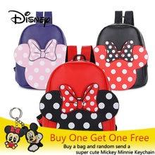 0115146cf3 Disney Minnie Mouse Sac À Dos Mickey Chaude Souris sacs de fille de Kawaii  Enfants PU Sacs À Dos Pour Les Filles cartable des fe.