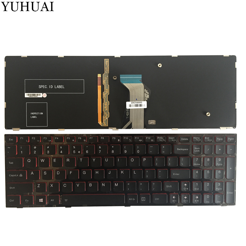 NEW US Keyboard For Lenovo Y590 Y500 Y510P US Laptop Keyboard Blacklight new us backlit laptop keyboard for lenovo ideapad y500 y510p us backlit laptop keyboard