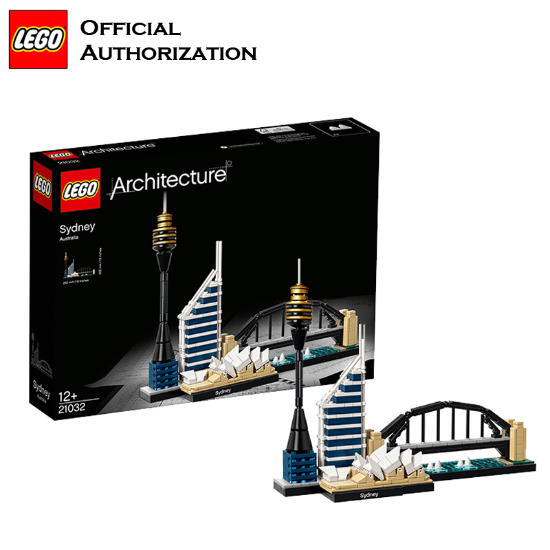 Original LEGO Architecture Series Building Blocks Toys 780pcs Sydney City Building Toys For Travel Gift Souvenir Brinquedos lego architecture series city building blocks toys paris louvre building toys a tourist souvenir for lego travel toys brinquedos