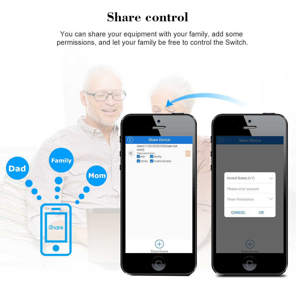 Sonoff S20 ue w wielkiej brytanii, usa, AU wtyczka gniazdo zasilania z Wi-Fi przełącznik aplikacja bezprzewodowa pilot gniazdo rozrządu przełącznik inteligentny dom dla Alexa Google
