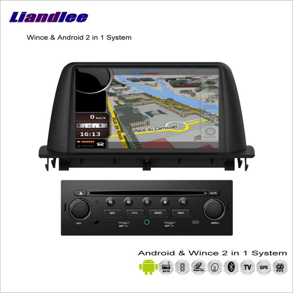 Liandlee For Citroen C3 Aircross 2013~2015 Car Radio BT CD DVD Player GPS Navigation Advanced Wince & Android 2 in 1 S160 System недорго, оригинальная цена