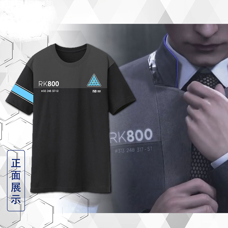 [STOCK]Hot Game Detroit Become Human Connor Emil figure Summer cotton t-shirt cosplay t shirt Unisex NEW 2018 freeship