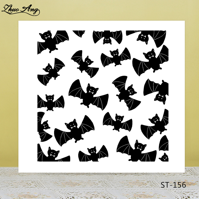 Black bats Transparent silicone Stamp for DIY Scrapbooking/Photo Album Decorative Card Making Clear Stamps Supplies