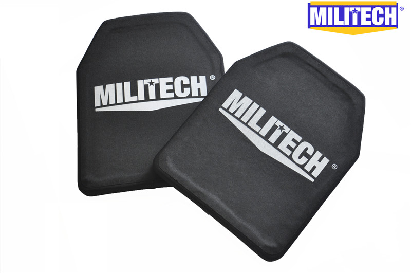 MILITECH Two Pieces 2.6kg Piece Alumina & PE NIJ IV Bulletproof Panel Al2o3 NIJ 4 Stand Alone Ballistic Panel With Free Shipping цена