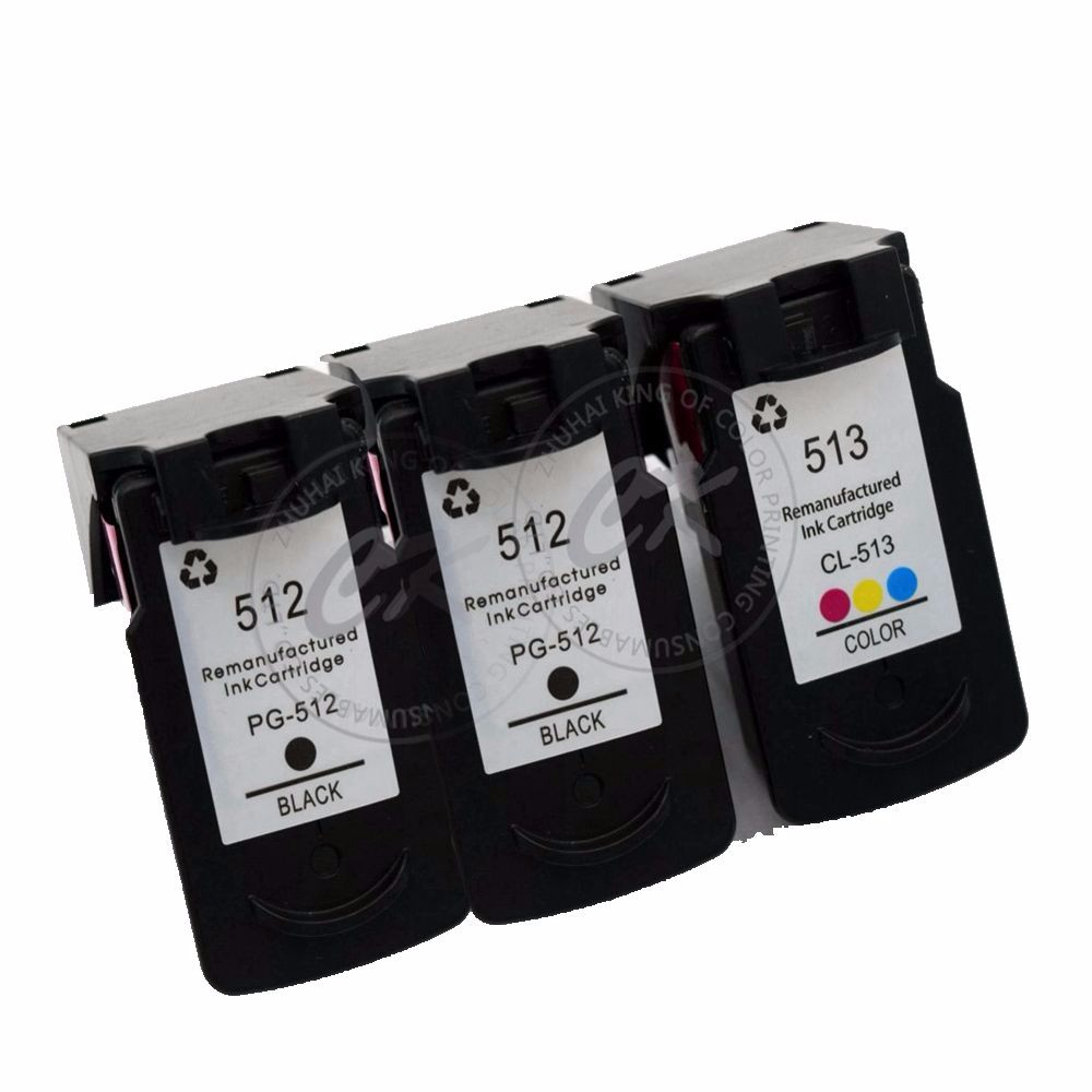 3pieces PG512 CL513 compatible Ink Cartridges For Canon PG 512XL CL 513 For Pixma iP2700 2702