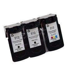 3 шт PG512 CL513 совместимые картриджи для Canon PG-512XL CL-513 для PIXMA iP2700 2702 MP230 240 250 252 260 270 272 280