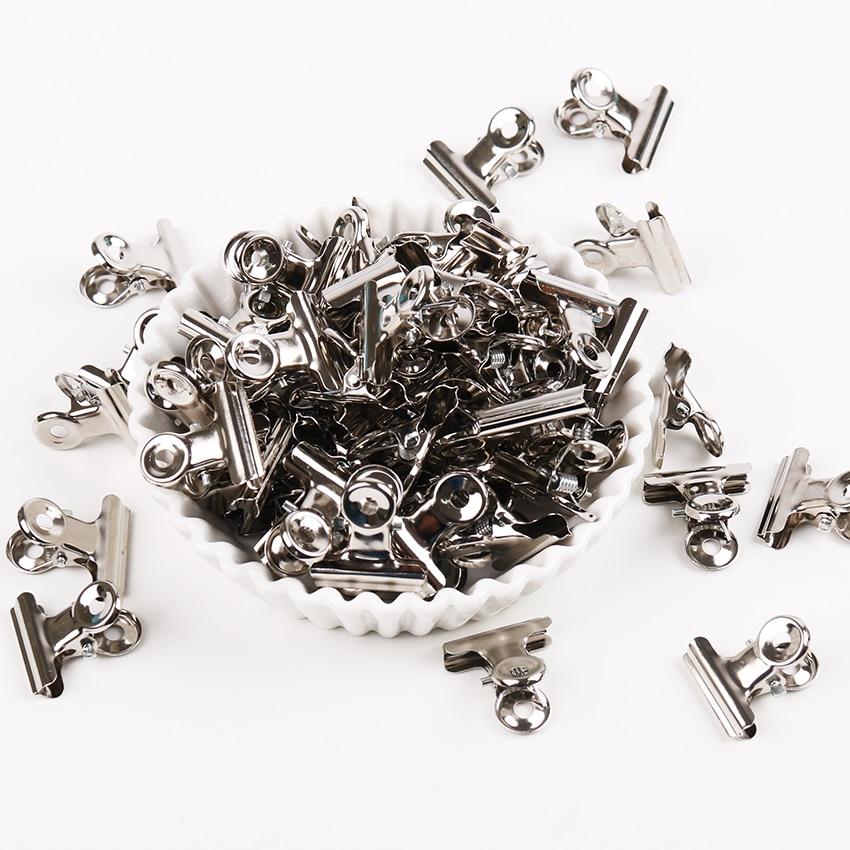 12 PCS Silver Tone Metal Mini Iron Clip Office Paper