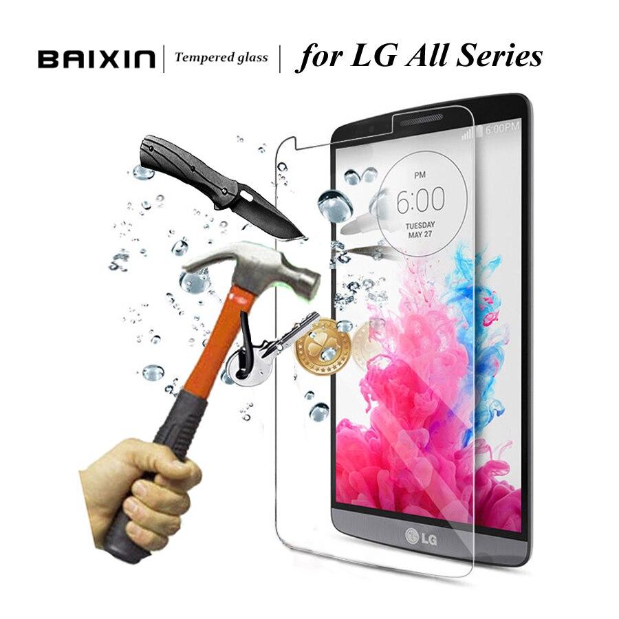 Baxin outlet mall 9H 2.5D 0.3mm Screen Protector for LG G3 G4 Mini Stylus Tempered Glass for LG V10 G4C G4mini G3mini Spirit Leon Nexus5 Film Case