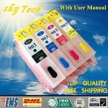 Пустой Заправка картриджей для hp 902 hp 903 hp 904 hp 905, для hp Officejet Pro 6950/6960/6970/6954/6962 и т. д., без чипа