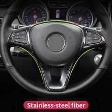 цена на For Mercedes Benz A B C E GLA GLC CLA GLE GLS Class Vito W176 W246 W205 W213 X156 C117 W639 Steering Wheel Stickers Car Styling