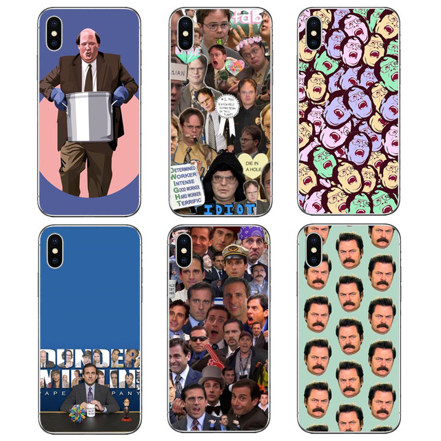 sports shoes d41de 5f866 US $1.96 40% OFF|The Office TV Show Dunder Mifflin Hard PC Phone Cover Case  for iPhone 8 8 Plus 7 7Plus 6 XR AS Max SE 5 5S X-in Phone Pouch from ...
