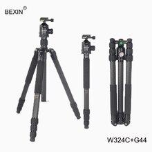 BEXIN 4 секции портативная дорожная DSLR камера съемный Профессиональный штатив из углеродного волокна с шаровой головкой для slr камеры