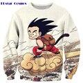 PLstar Cosmos free shipping Anime Dragon Ball Sweatshirt Cute Kid Goku 3D print Women Men Long Sleeve Outerwear Hip Hop Pullover