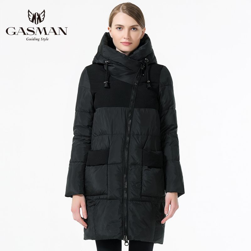 GASMAN Slim Women Coat Winter 2018 Womens Jackets And Parka Down New Winter Collection Hooded Warm Windproof Jacket Women 39 s in Parkas from Women 39 s Clothing