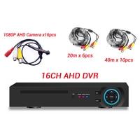 16ch 1080 P AHD камера система с 16CH AHD DVR с кабелями