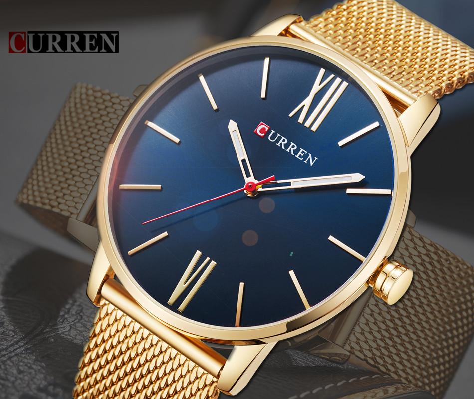 HTB19rxbRpXXXXXjXpXXq6xXFXXXQ - CURREN Luxury Stainless Steel Business Watch for Men
