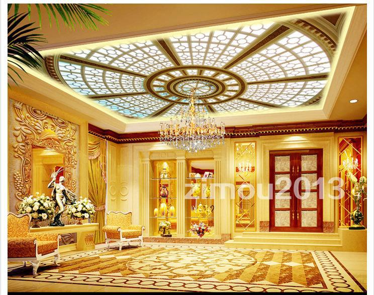 High Quality Competitive Price Hot Sale New Fashion Wholesale 3D Murals Custom Dome Skylight Living Room Ceiling Wallpaper the new high quality imported green cowboy training cow matador thrilling backdrop of competitive entrance papeles