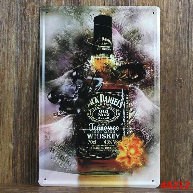 JACK DANIELS With The Fog Tin signs Art wall decor House Cafe Bar ...