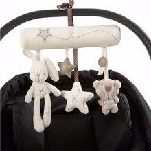 Crid погремушки коляски медведь музыкальный новорожденный плюшевые мобильный кровать мягкие милый