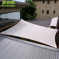 2.4 x 3.6 M/PCS Rectangle Waterproof Polyester fabrics Sun Shade Sail for garden net shades awning